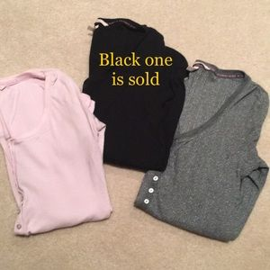 2 pack of Victoria's Secret sleep henley shirts S